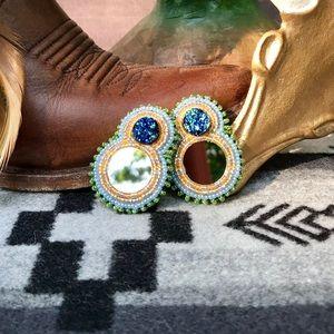 Native American Boho Southwestern Beaded Earrings